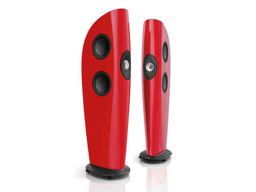 KEF BLADE Standlautsprecher SONDERFARBE Racing Red - Punktschallquelle in Perfektion