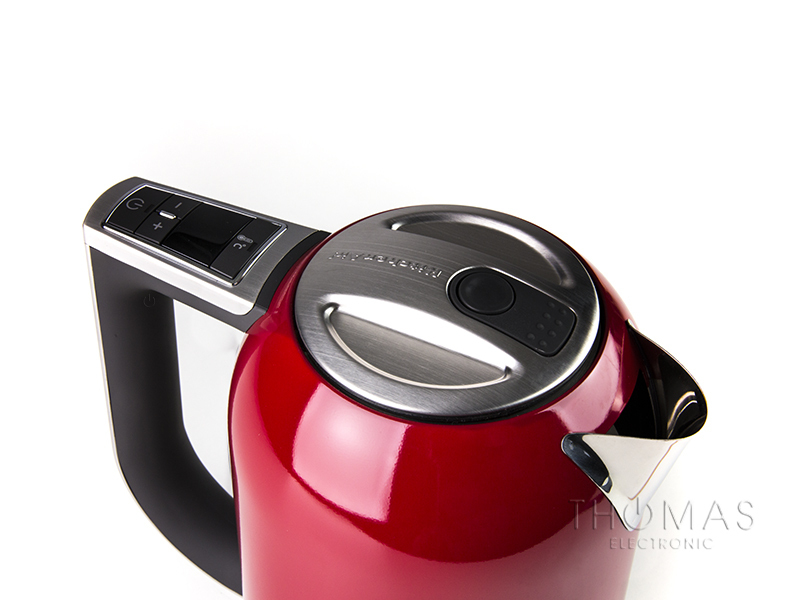 kitchen aid wasserkocher in empire red  thomas electronic  ~ Wasserkocher Von Kitchenaid