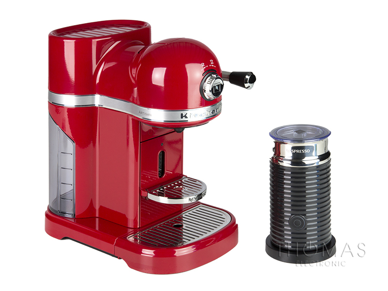 kitchenaid artisan nespresso und aeroccino 3 in empire rot thomas electronic online shop 5kes0504. Black Bedroom Furniture Sets. Home Design Ideas