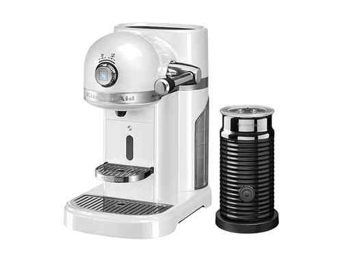 KitchenAid Artisan Nespresso und Aeroccino 3 in Frosted Pearl - 5KES0504EFP