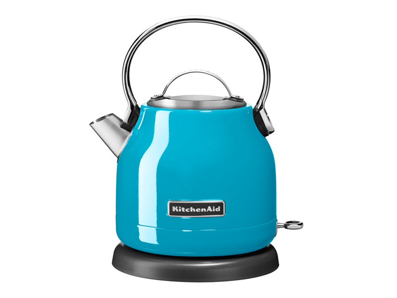 Kitchenaid retro wasserkocher christallblau thomas for Wasserkocher retro design