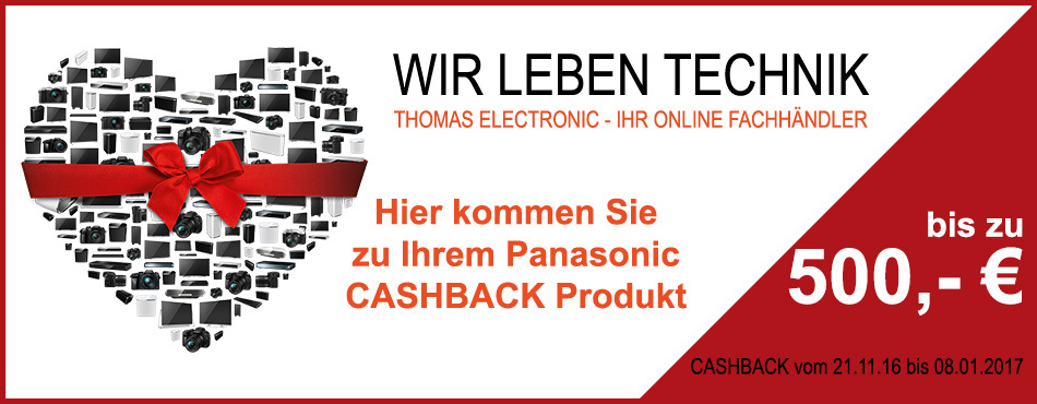 Panasonic Cashback Winter 2016 im Thomas-Electronic-Online-Shop