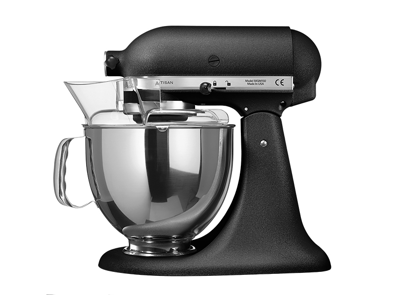 kitchenaid artisan k chenmaschine hammerschlag schwarz thomas electronic online shop 5ksm150ps. Black Bedroom Furniture Sets. Home Design Ideas