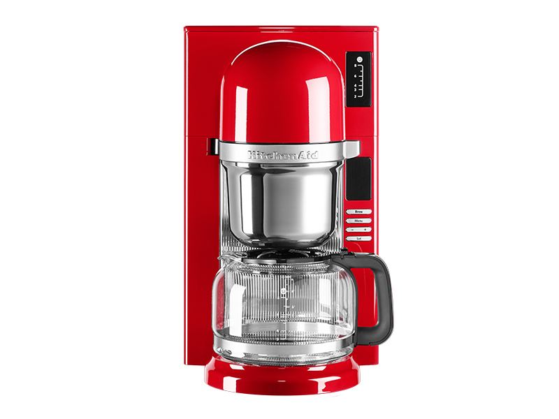 kitchenaid kaffeemaschine mit filter in empire red 5kcm0802eer thomas electronic online shop. Black Bedroom Furniture Sets. Home Design Ideas
