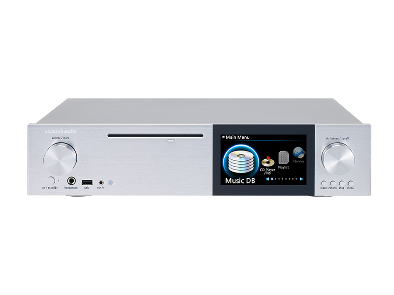 Cocktail Audio X-40 - CD Player/Ripper in silber - Thomas Electronic ...