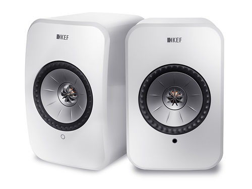 KEF LSX wireless, Aktivlautsprecher  in weiß