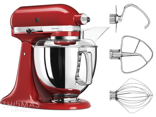KitchenAid Artisan Küchenmaschine 5KSM175PSEER Special-Bundle in empire rot