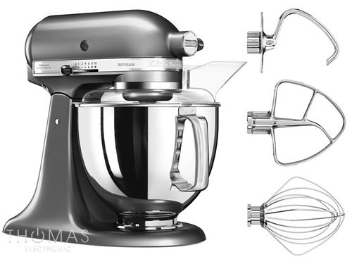 KitchenAid Artisan Küchenmaschine 5KSM175PSEMS Special-Bundle in medallion silber