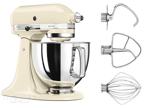 KitchenAid Artisan Küchenmaschine 5KSM175PSEAC Special-Bundle in creme