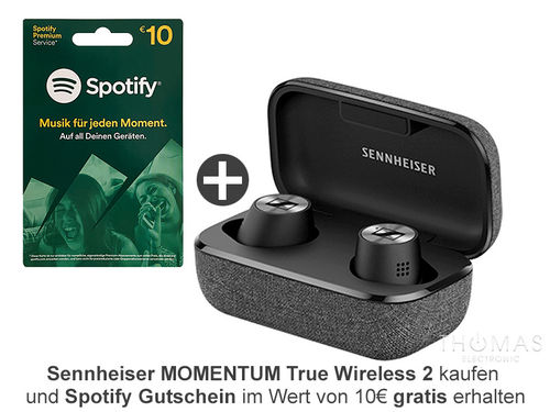 Sennheiser MOMENTUM True Wireless 2 schwarz - Bluetooth In-Ear Kopfhörer - AKTION