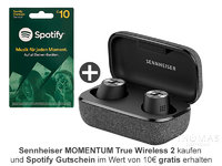 Sennheiser MOMENTUM True Wireless 2 schwarz - Bluetooth In-Ear Kopfhörer - SPOTIFY-AKTION 508674