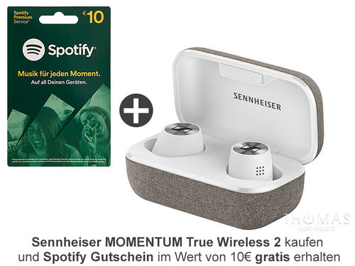 Sennheiser MOMENTUM True Wireless 2 weiss - Bluetooth In-Ear Kopfhörer - AKTION