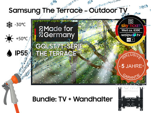 Samsung The Terrace GQ75LST7T TV - inkl. Outdoor-Wandhalterung