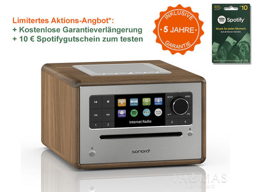 Sonoro Elite walnuss - Edition 5 Jahre Garantie